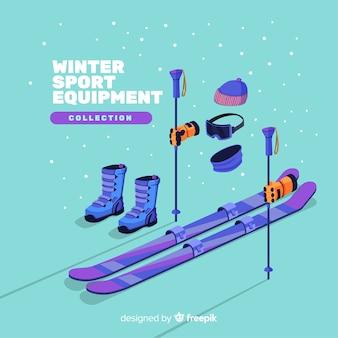 Equipamento moderno de esportes de inverno