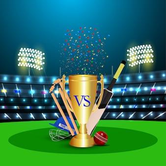 Equipamento para estádio de críquete