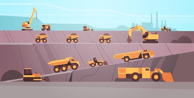 Equipamento profissional trabalhando na produção de mina de carvão