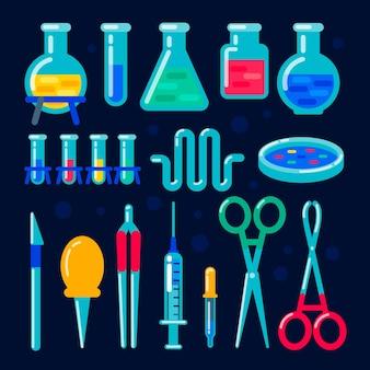 Equipamento químico vetorial para experimento