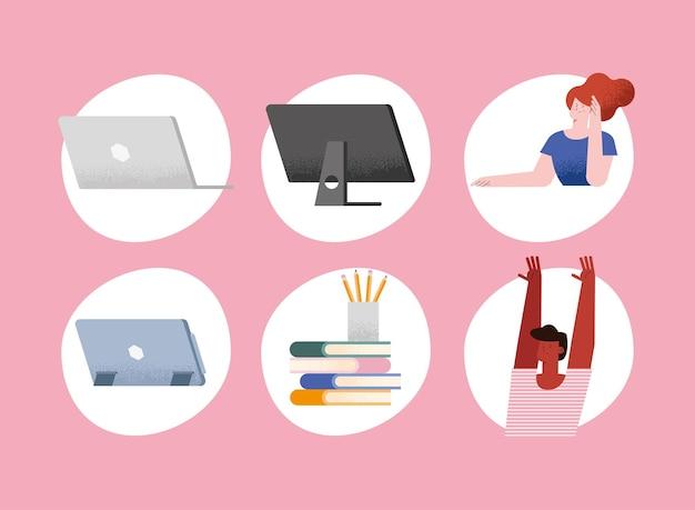 Equipamentos de aula virtual