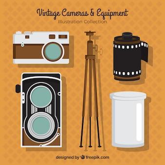 Equipamentos de câmera do vintage