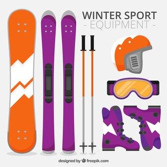 Equipamentos de esporte de inverno