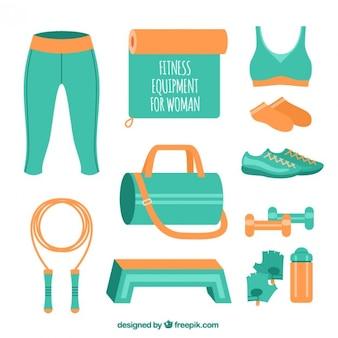 Equipamentos de ginástica para a mulher