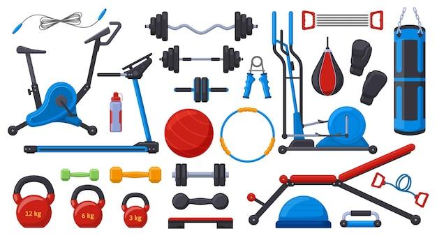 Equipamentos de ginástica para academia