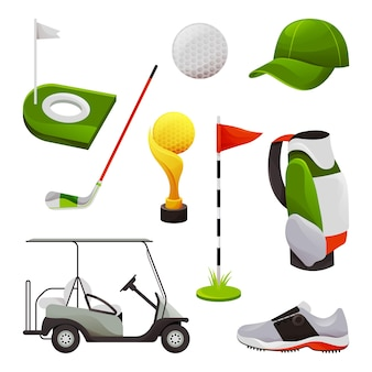 Equipamentos de golfe e acessórios esportivos