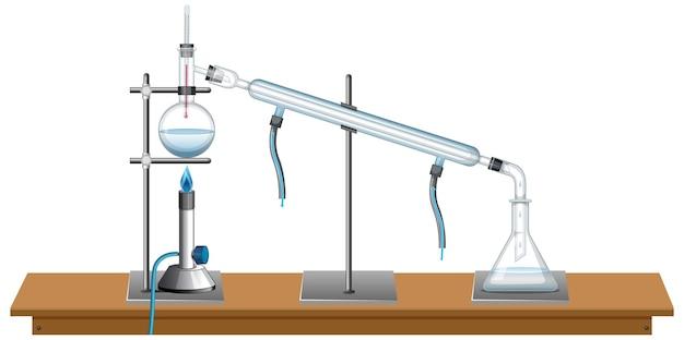 Equipamentos de laboratório em branco