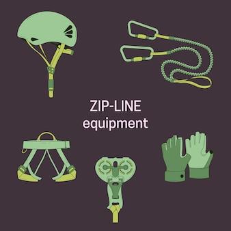 Equipamentos de linha de zip