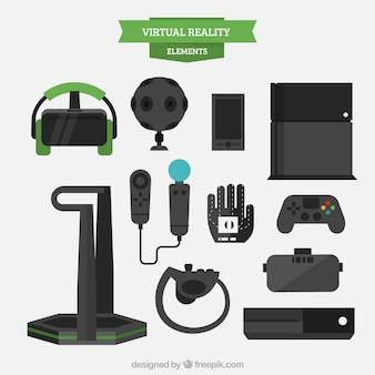 Equipamentos de realidade virtual no design plano