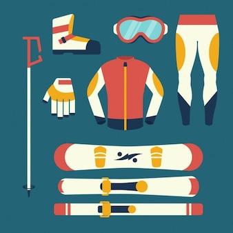Equipamentos de snowboard e esqui