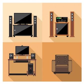 Equipamentos de televisão e vídeo