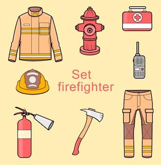 Equipamentos e roupas para bombeiros