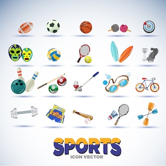 Equipamentos esportivos.