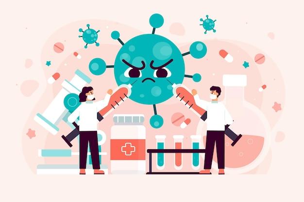 Equipe científica tentando desenvolver cura para o coronavírus