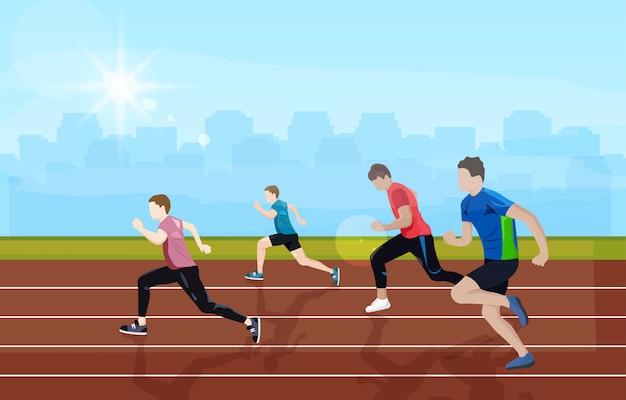 Equipe correndo