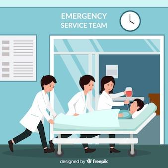 Equipe de atendimento de emergência