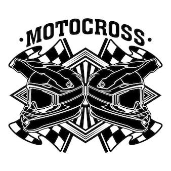Equipe de corrida de motocross