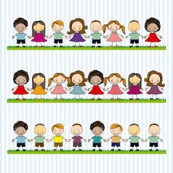 Equipe de crianças