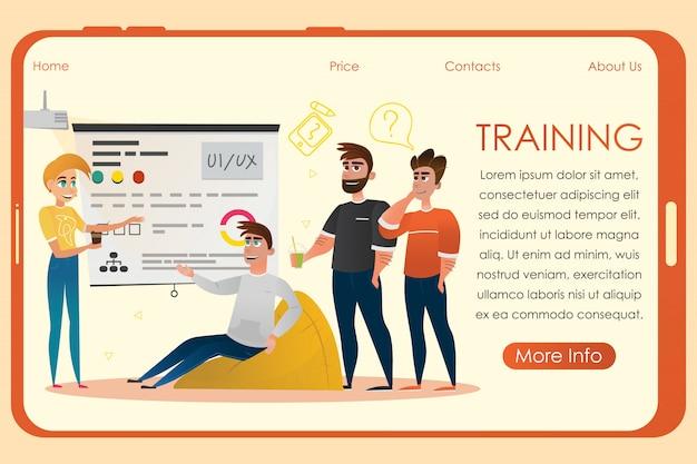 Equipe de design no training studio for designers.