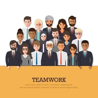 Equipe de empresário e empresária.
