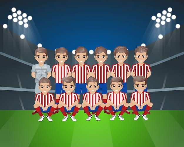 Equipe de futebol do atlético de madrid