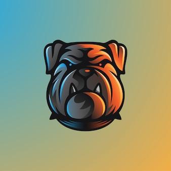 Equipe de jogos bulldog esports logo