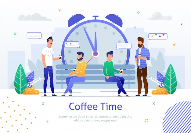 Equipe de jovens trabalhadores tendo tempo de intervalo curto durante o dia de trabalho