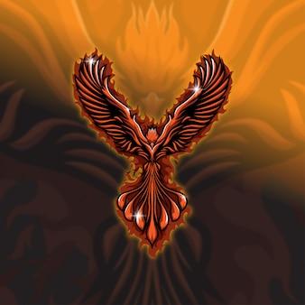 Equipe de mascote do esports team phoenix squad
