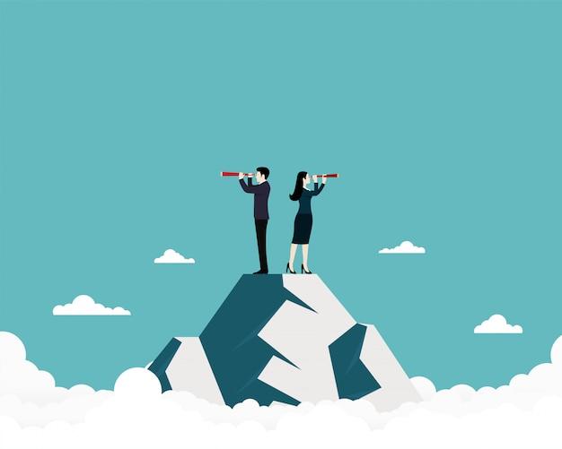 Equipe de negócios à procura de sucesso