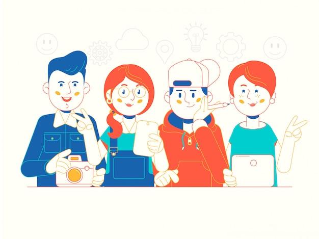 Equipe de negócios criativos de sucesso