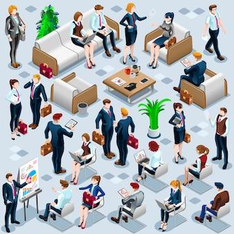 Equipe de negócios de pessoas isométrica