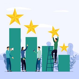 Equipe de negócios e competição, realização, sucesso, desafio, ilustração em vetor conceito empresarial