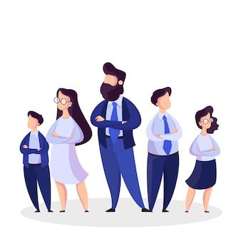 Equipe de negócios em pé no terno. grupo