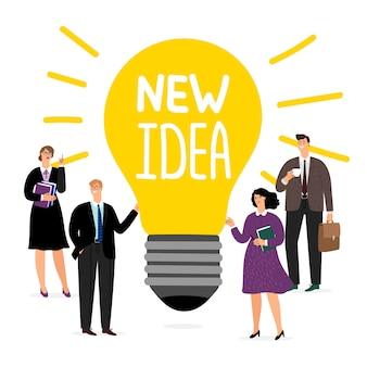 Equipe de negócios novo conceito de idéia