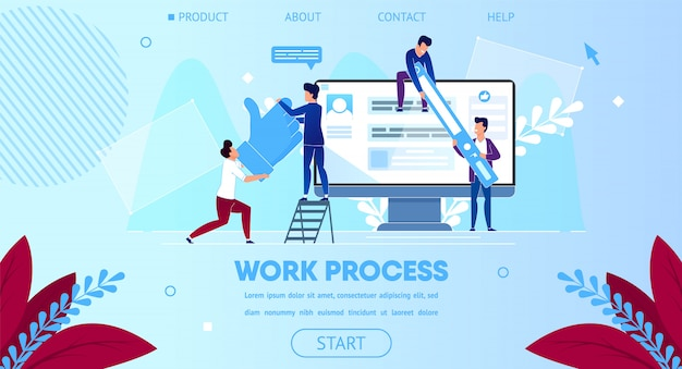 Equipe de negócios trabalham juntos, monitor de computador enorme
