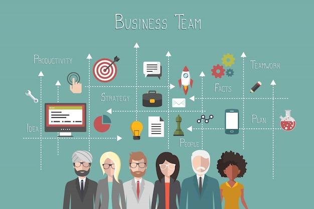 Equipe de negócios