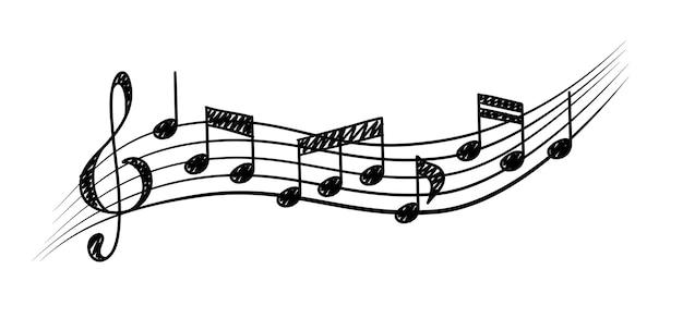 Equipe de notas musicais conceito de ritmo musical de notas de clave de sol