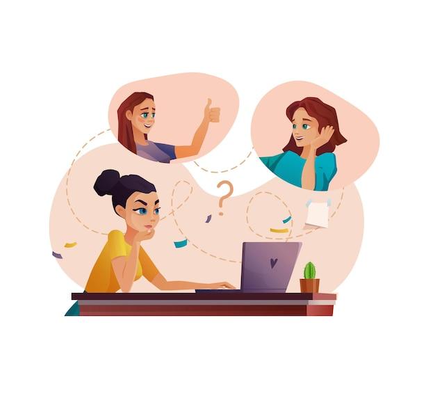 Equipe de pessoas trabalhando em videoconferência ou educação