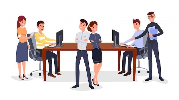 Equipe de profissionais de negócios