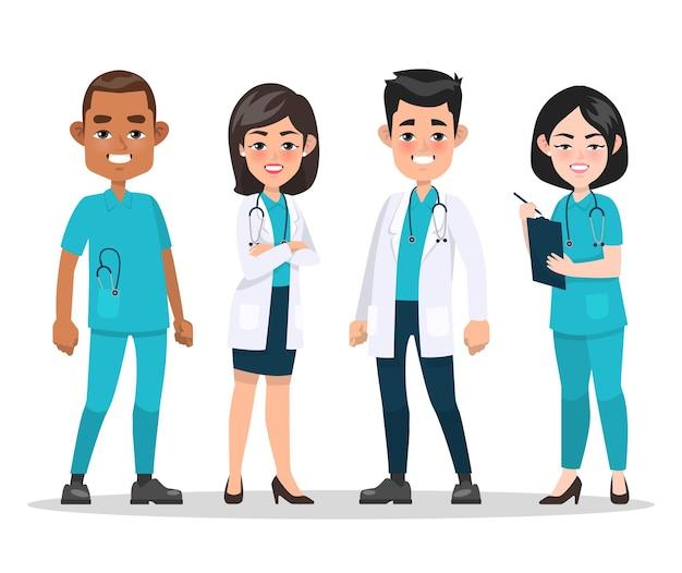 Equipe de profissionais médicos