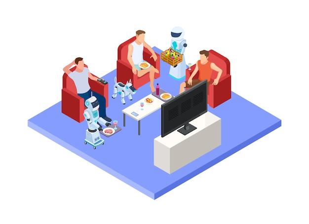 Equipe de serviço de robótica