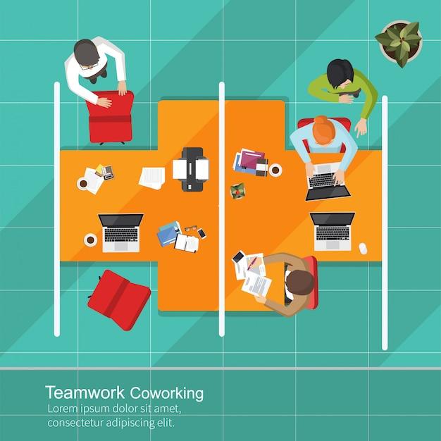 Equipe de trabalho de análise de negócios