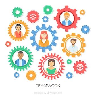 Equipe de trabalho e artes