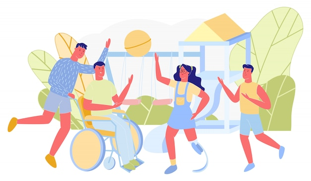Equipe dos jovens que joga desenhos animados do voleibol.