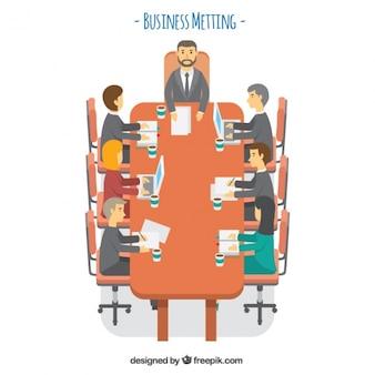 Equipe em uma reunião de negócios