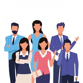 Equipe executiva de empreendedor de negócios