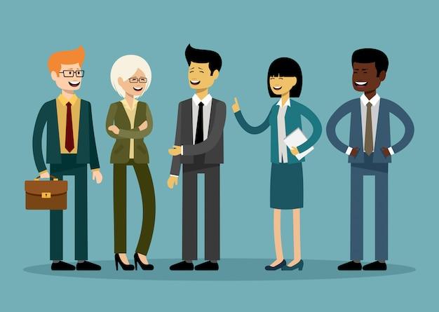 Equipe internacional de negócios, trabalhadores de escritório