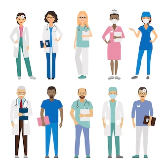 Equipe médica do hospital.