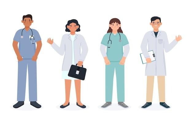 Equipe profissional de saúde sorridente