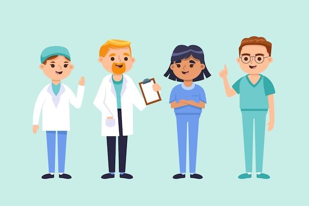 Equipe profissional de saúde